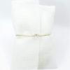 λευκος υφασματινος φακελος swarovski