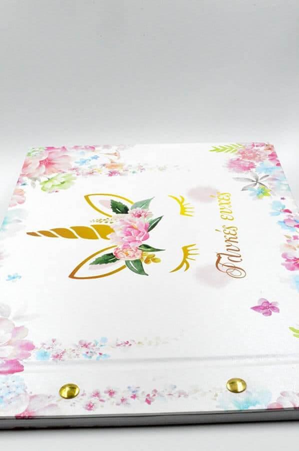 βιβλίο άσπρο ροζ μονόκερος