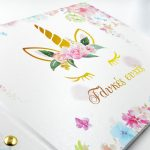 book unicorn white pink