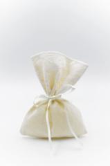 White lace pouch satin ribbon